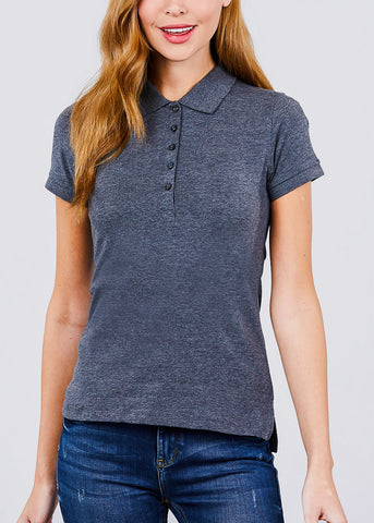 Image of Charcoal Polo Shirt