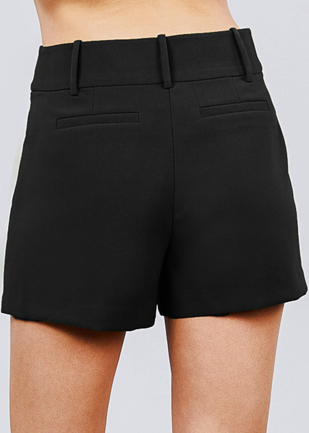High Waisted Black Dressy Shorts
