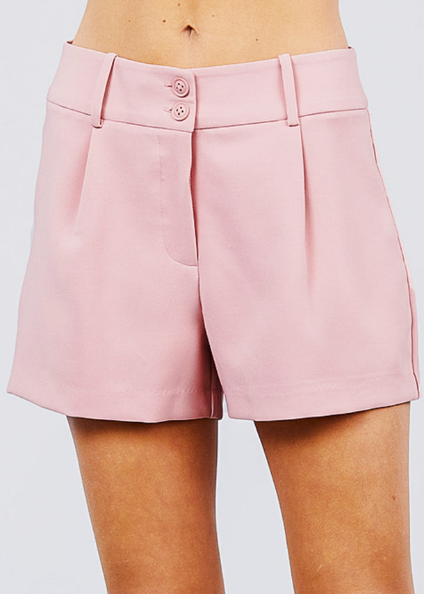 High Waisted Blush Dressy Shorts