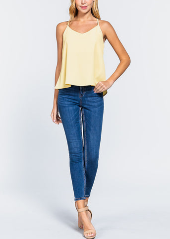 Yellow Zipper Detail Top