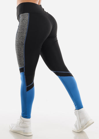 Image of Activewear Black Colorblock Leggings