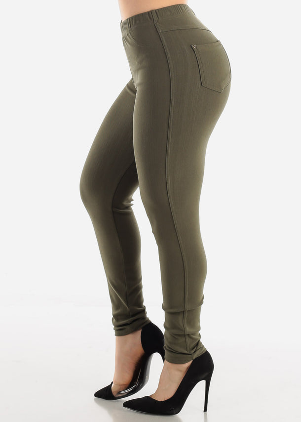 Olive Jeggings