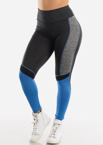 Activewear Charcoal Colorblock Leggings