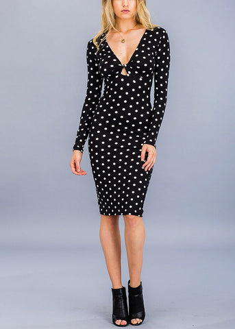 Image of Sexy Chic Black Keyhole Dress