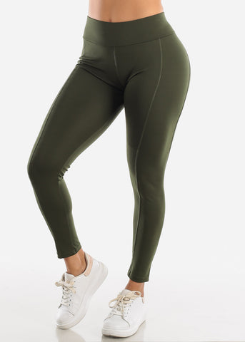 Image of Activewear High Rise Olive Leggings
