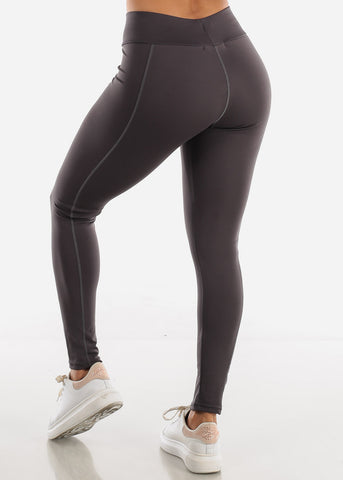 Image of Activewear High Rise Dark Grey Leggings