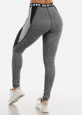 "Activewear Grey Leggings ""Love"""