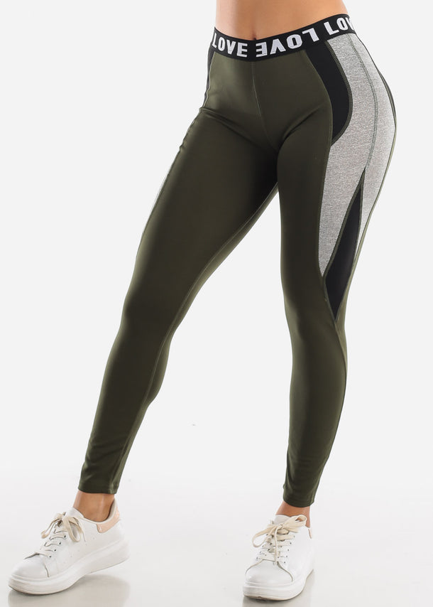 Activewear Olive Leggings