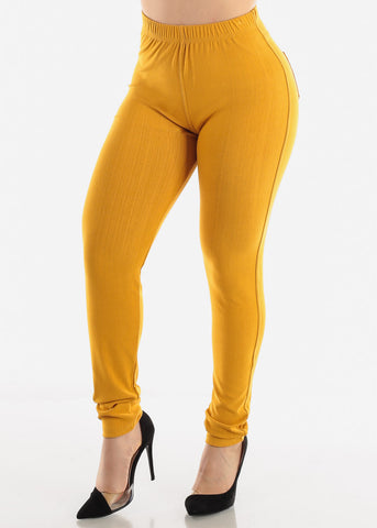 Image of Mustard Jeggings