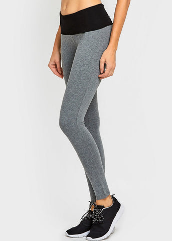 Activewear Two-Tone Yoga Leggings