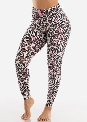 Image of Animal Printed Pajama Pants