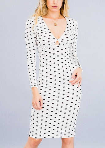 Sexy Chic White Keyhole Dress