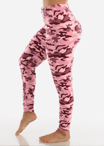 Image of Camouflage Printed Pajama Pants