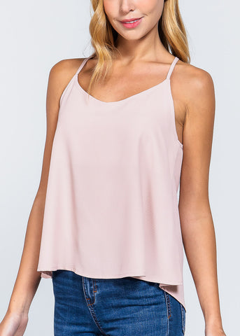 Pink Zipper Detail Top