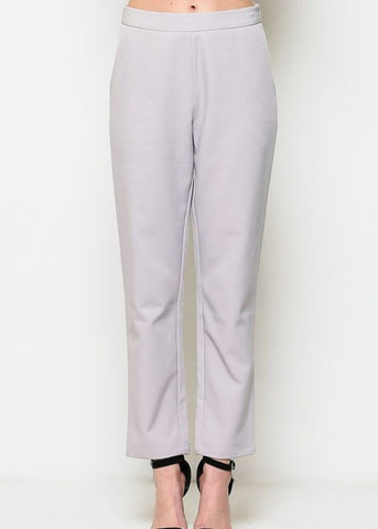 High Waisted Grey Dress Pants