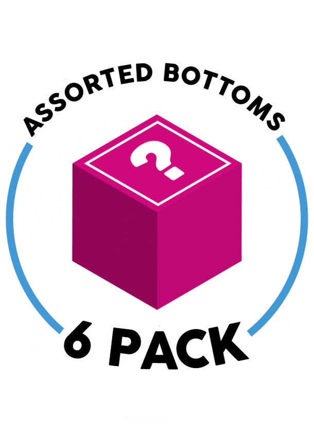 6 Assorted Bottoms ( 6 Pack G21)