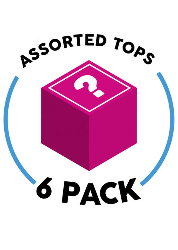 6 Assorted Tops (6 Pack G11)