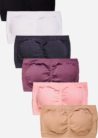Seamless Tube Top Bras (6 PACK)