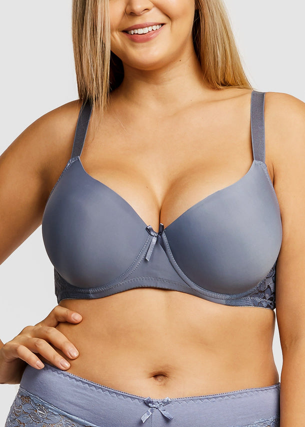 Full Cup Plain Lace DD Cup Bras (6 PACK)