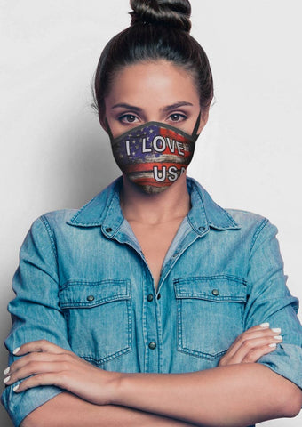 I Love USA Face Cover