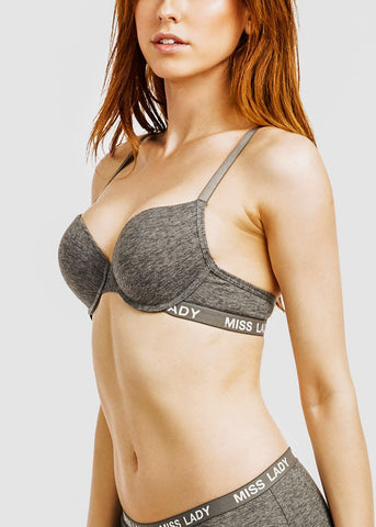 Cotton Full Cup Solid Bras (6 PACK)
