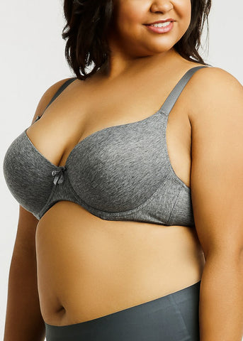 Plain Cotton DD Cup Bras (6 PACK)