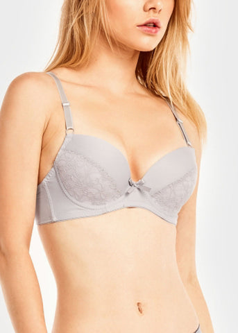 Image of Plain Lace Push Up Bra (6 PACK)