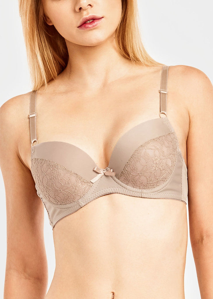 Plain Lace Push Up Bra (6 PACK)