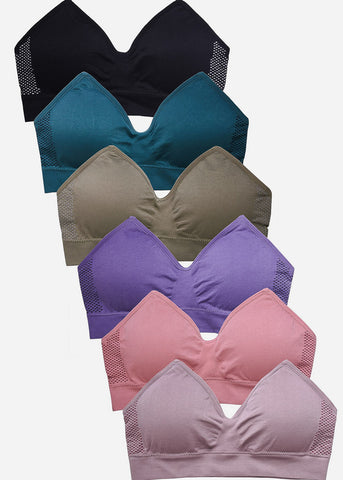 Seamless Plain Sports Bras Pack (6 PACK)