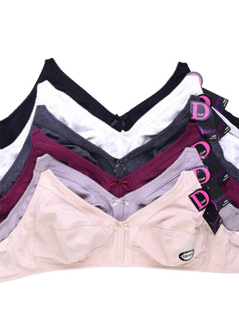 Wireless 3 Hook Bras (6 PACK)