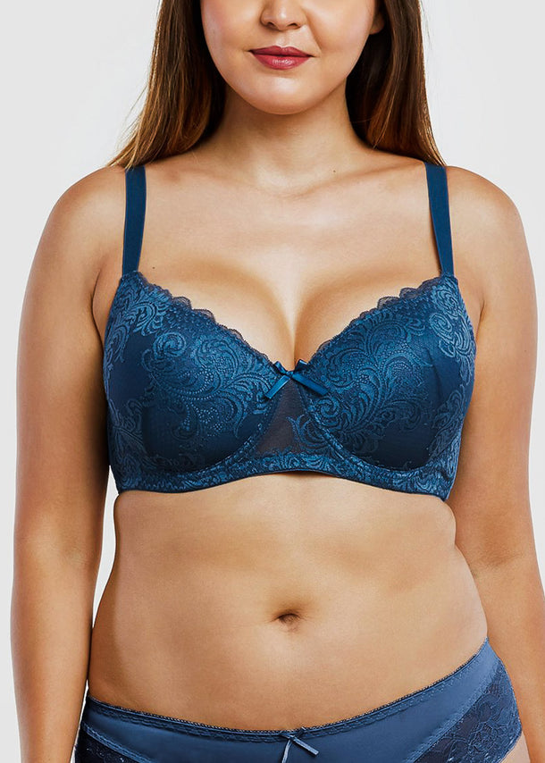 Push-Up Full Cup D Lace Bras (6 PACK)
