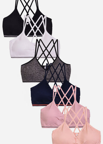 Seamless Strappy Bralette (6 PACK)