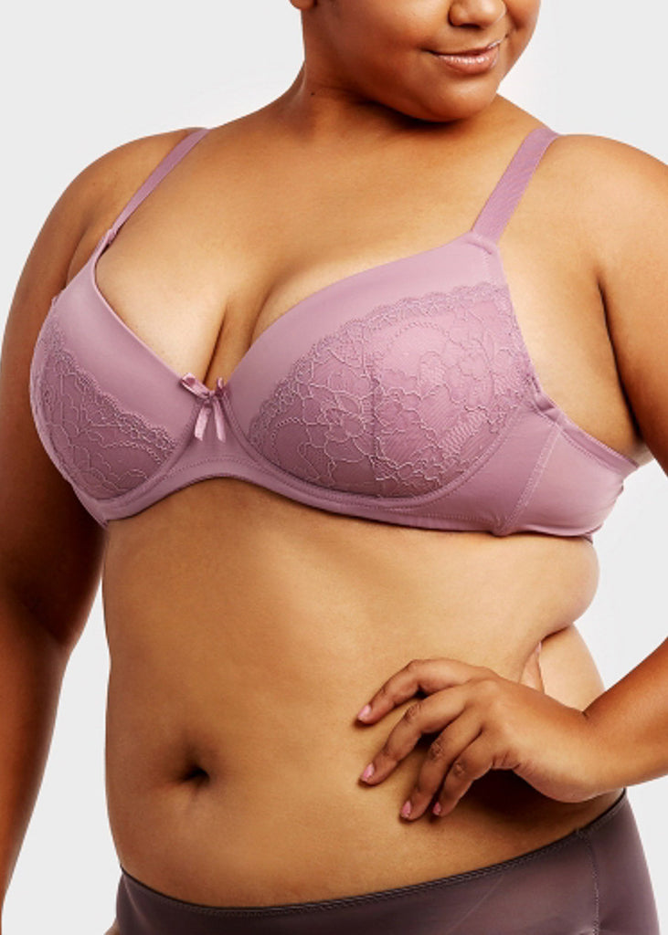 Plain Lace D Cup Bras (6 PACK)
