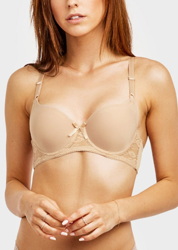 Plain Lace Full Cup Bra (6 PACK)
