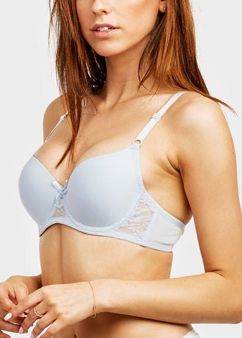Image of Plain Lace Full Cup Bra (6 PACK)