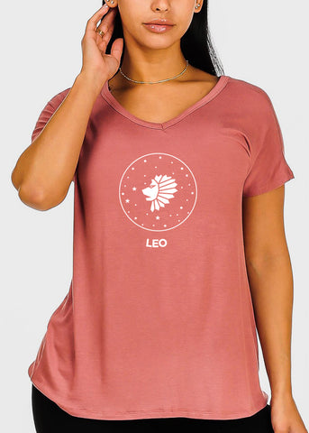 "Image of Rose Graphic Top ""Leo"""