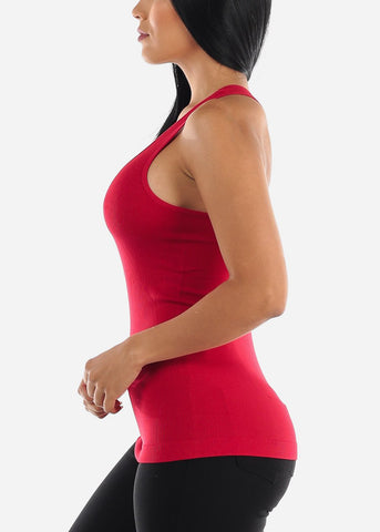 One Size Racerback Seamless Top (Red)