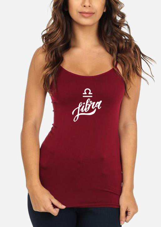 "One Size Burgundy Graphic Top ""Libra"""