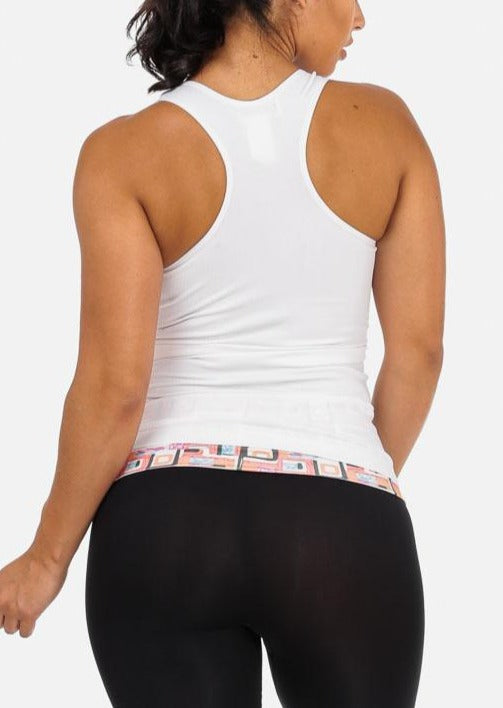 One Size Racerback Seamless Top (White)
