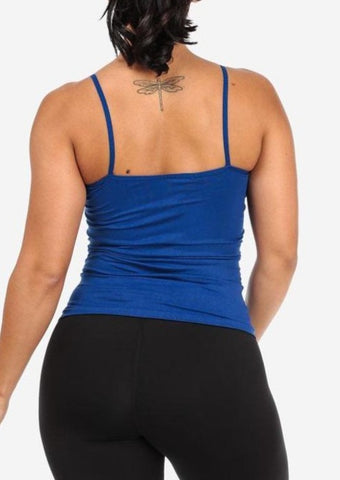 Image of One Size Spaghetti Strap Seamless Top (Royal Blue)