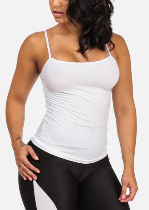Cheap Strap Seamless Top (White)