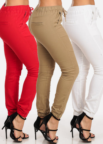 Image of Moto Style Assorted Colors Cute Jogger Pants Mega Pack Deal Sale At Affordable Prices