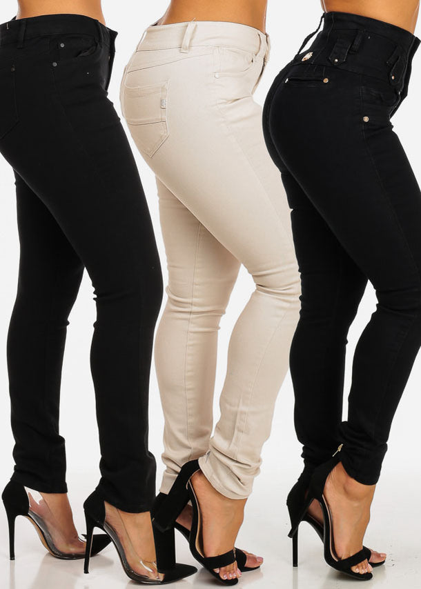 SIZE 5 High Waisted Jeans (3 Pack G53)