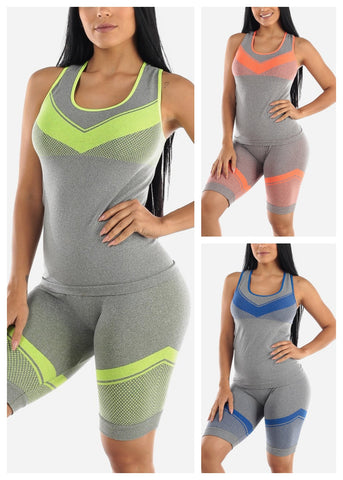Image of Activewear Top & Shorts (3 PACK)