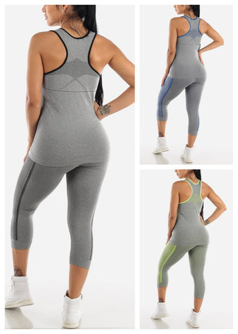 Activewear Top & Capris (3 PACK G61)