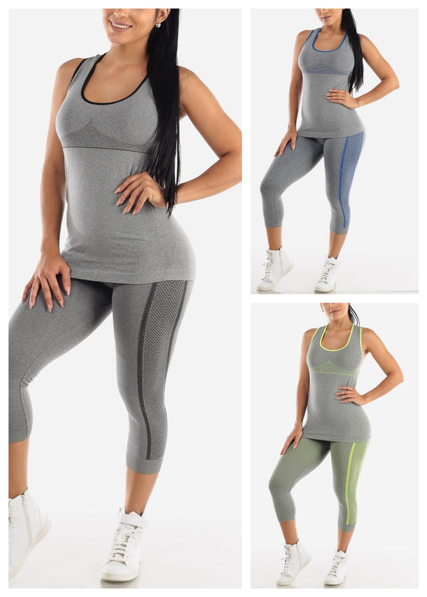 Activewear Top & Capris (3 PACK)
