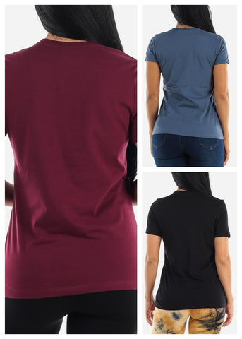 Image of Crew Neck Tops (3 PACK)