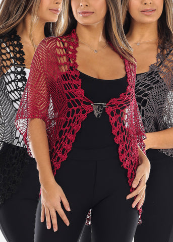 One Size Cardigans (3 PACK)