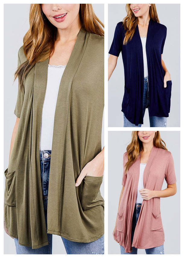 Elbow Sleeve Cardigans ( 3 PACK)