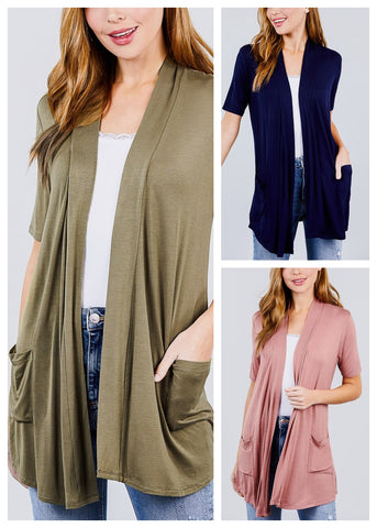 Image of Elbow Sleeve Cardigans ( 3 PACK)